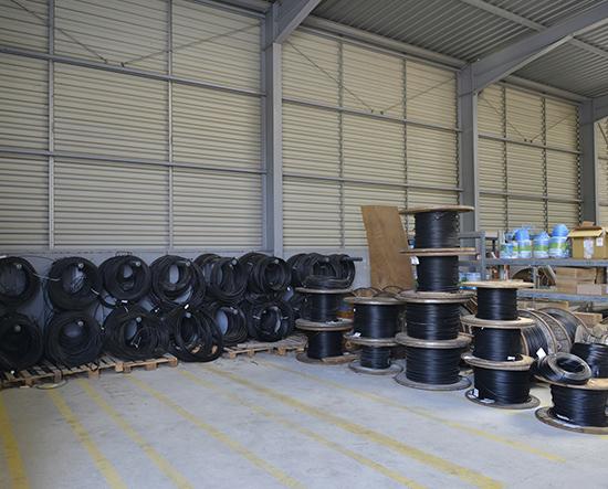 Stockage fibre optique